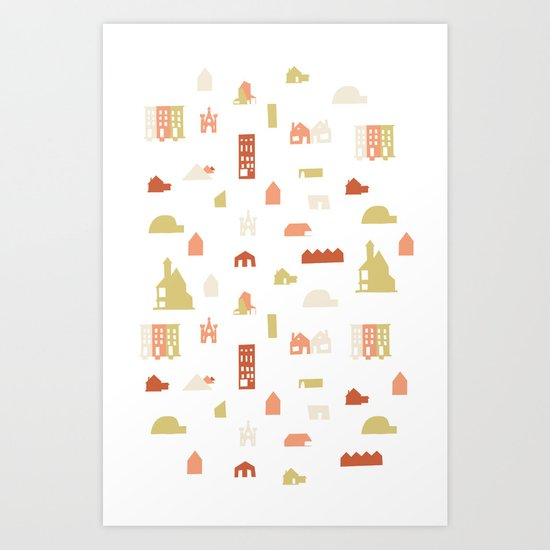 Searching for a House Art Print