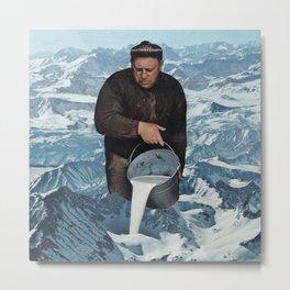 Milky Mountain Metal Print
