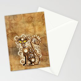 Steampunk Cat Vintage Style Stationery Cards