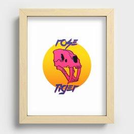 Rose Tiger Recessed Framed Print