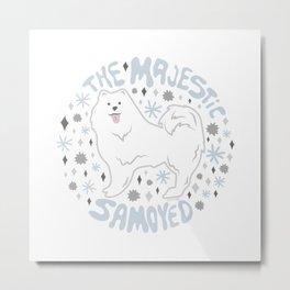 The Majestic Samoyed Metal Print