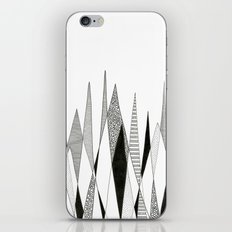Spikes and Pines (pen on paper) iPhone & iPod Skin
