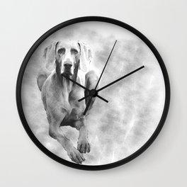 MR TEE THE WEIMARANER Wall Clock