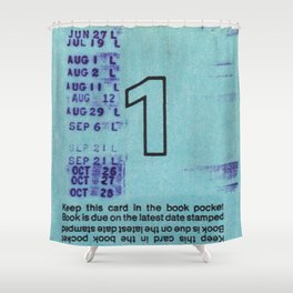 Ilium Public Library Card No. 1 Shower Curtain