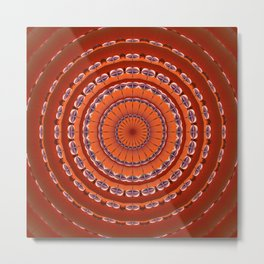 Fall to Winter Mandala Metal Print