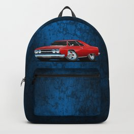 Classic Muscle Car Cartoon Backpack