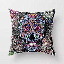 Crazy Skull  Throw Pillow
