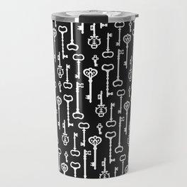 Victorian black & white Keys Travel Mug