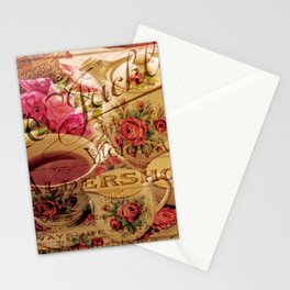 Teacup and Roses 3 Stationery Cards