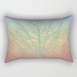 Green grunge tree Rectangular Pillow