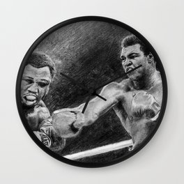 Thrilla in Manilla Pencil Drawing Wall Clock