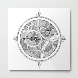 Alchemical Timepiece Metal Print