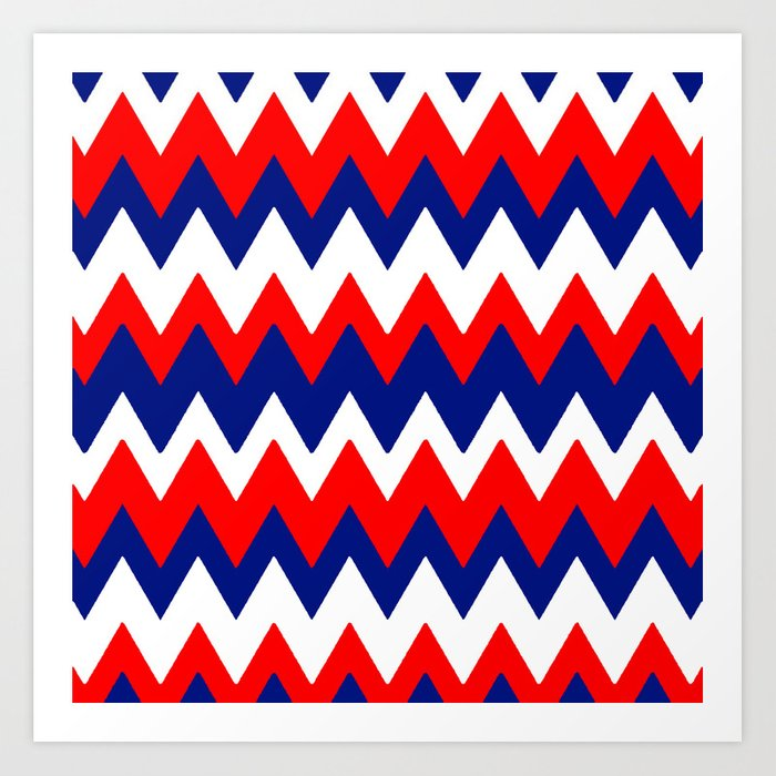 Red, White and Blue, 2016 Art Print