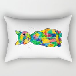 Rainbow Cat Rectangular Pillow