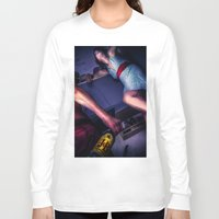 alcohol Long Sleeve T-shirts featuring The fear of alcohol by lightmuch