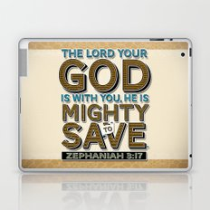 He is Mighty to Save! Laptop & iPad Skin