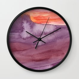 Mar de Lava Wall Clock