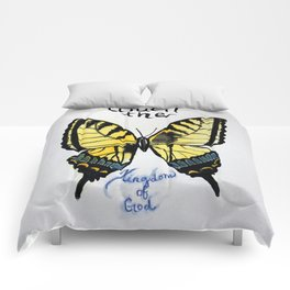 touch the kingdom tiger swallowtail butterfly Comforters
