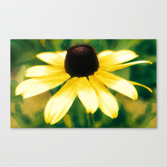 Vibrant Yellow Coneflower Canvas Print
