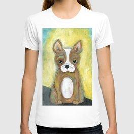 Puppy Painting, Children's Room Decor, Kid's Room, Wall Art, Dog Painting, Animal Art T-shirt