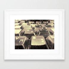 My typography Framed Art Print
