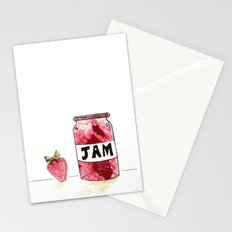 Strawberry VS Jam Stationery Cards