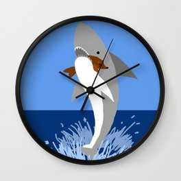 This is a Shark Attack Wall Clock