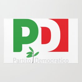 Partito Democratico 2018 For Dark Colors Rug