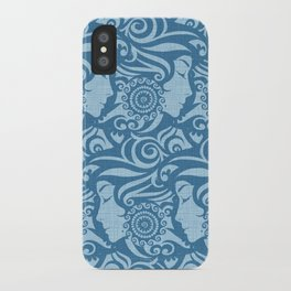 Blue Denim Diva iPhone Case