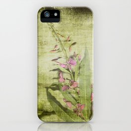 Decorative Green Floral iPhone Case