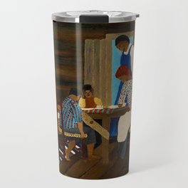African American Masterpiece 'Giving Thanks' by Horace Pippin Travel Mug