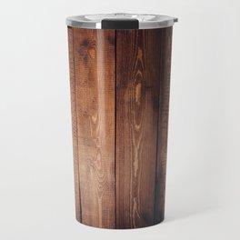 Rustic Wooden Plank Texture Travel Mug