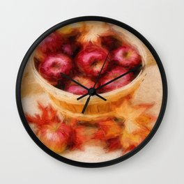 Autumn Harvest Wall Clock