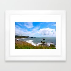 California Coastline Framed Art Print
