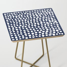 Dots / Navy Side Table