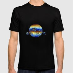 ABSTRACT - My blue heaven MEDIUM Mens Fitted Tee Black
