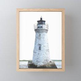 Lighthouse Illustration Framed Mini Art Print