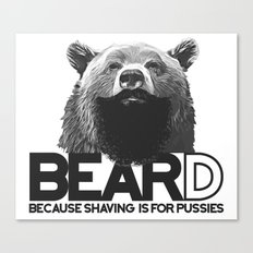Bear and beard Canvas Print