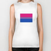 bisexual Biker Tanks featuring bisexual flag by tony tudor