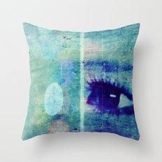 The Glaring Sea Throw Pillow