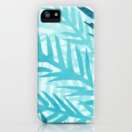 Tropical Nature Abstract - Aqua and Teal iPhone Case
