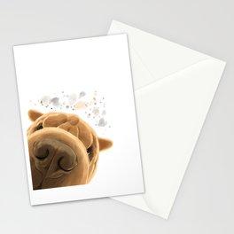Corious Shar Pei Dog Stationery Cards