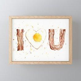 Bacon and Egg LOVE I Heart You Food Lovers Framed Mini Art Print