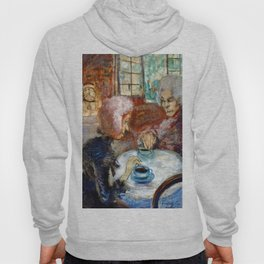 Gossipy, Humpback Old Lady's telling old stories to Herbert by Lajos Gulácsy Hoody