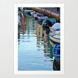 Burano Canal Reflections Art Print
