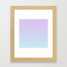 Pastel Ultra Violet Mint Gradient Framed Art Print