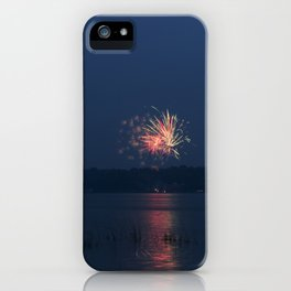 Fireworks Over Lake 14 iPhone Case