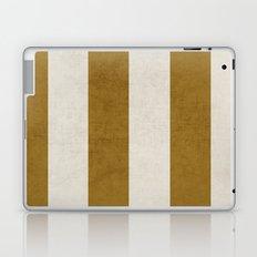 vintage gold stripes Laptop & iPad Skin