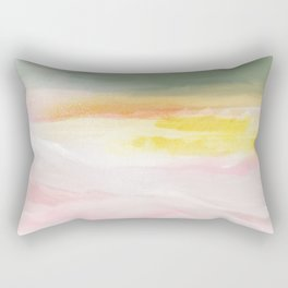 pink soda mountains Rectangular Pillow