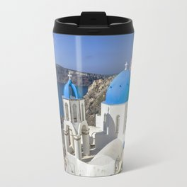 Santorini, Oia Vilage, Greece Travel Mug